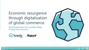 An image of a globe and the title Econimic Resurgence Through Digitalization of Global Commerce