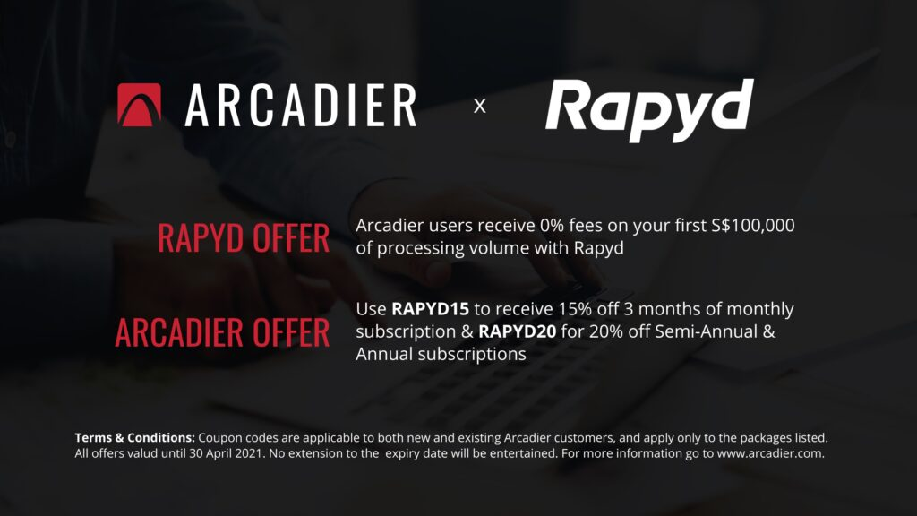Rapyd and Arcadier Offers