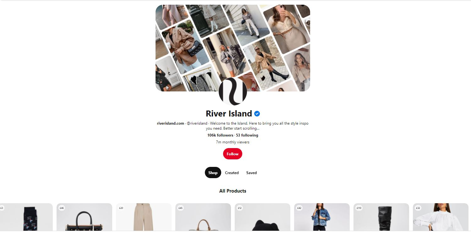 River Island Shoppable Content