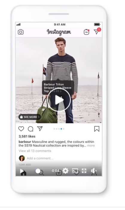 Shoppable content instagram Barbour