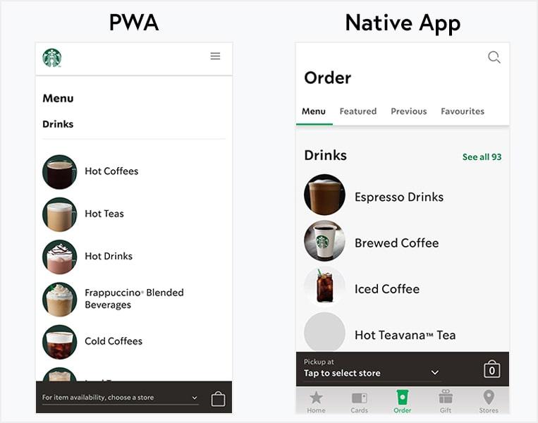 Starbucks PWA