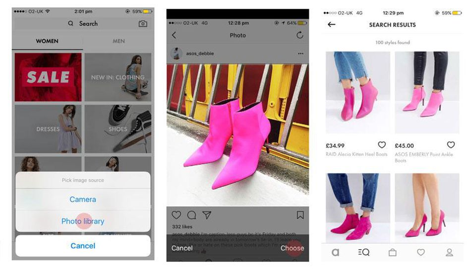 Asos Style match is a popular visual search tool in the UK