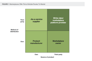 A chart for different marketplace business models shows four potential options