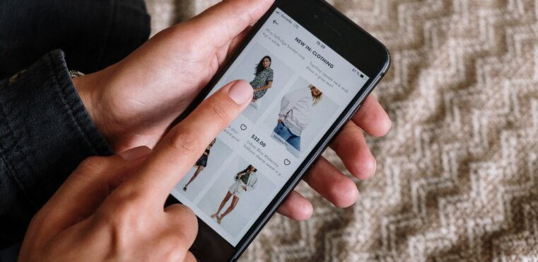 shopping online on a phone