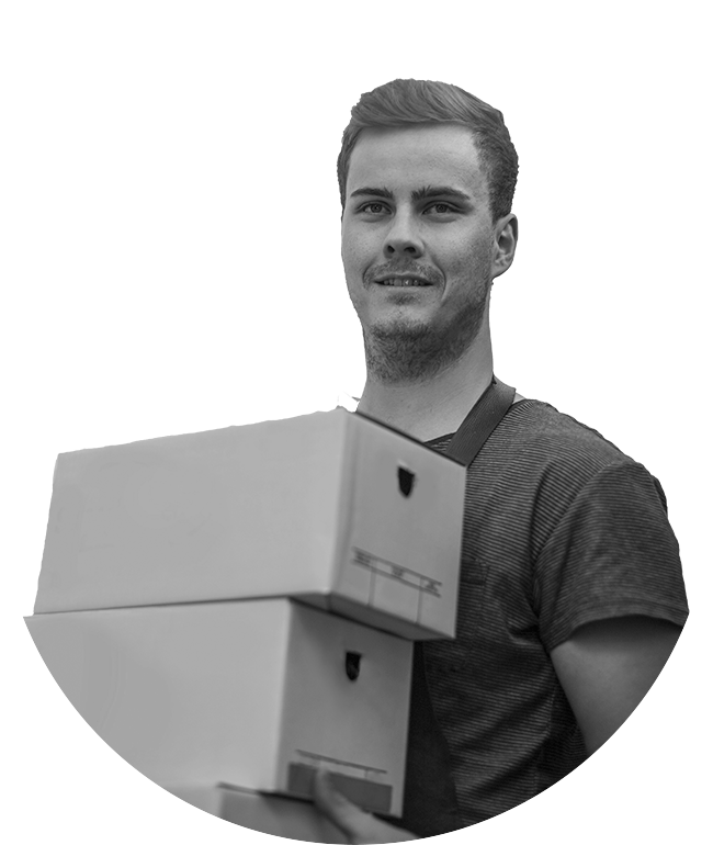 A B2B business owner shipping boxes